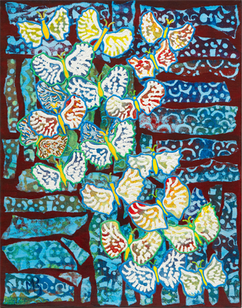 Butterfly Batik by artist Mary Berger