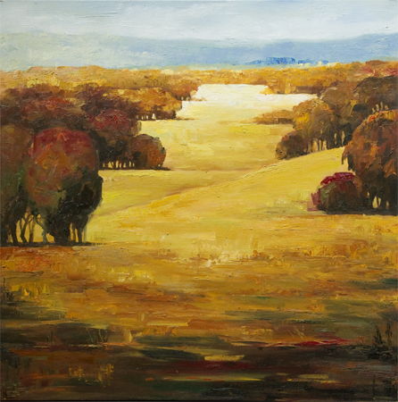 Sunlit Hill Country by artist M Collins