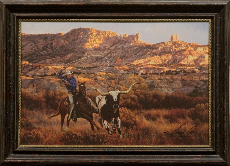 Bringing Home the Ranch Pet by artist Tim Cox