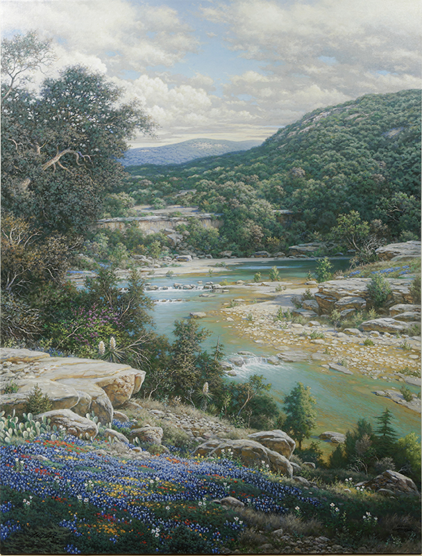 Cliffs of the Nueces by artist Larry Dyke