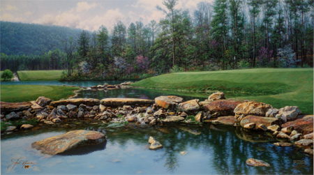 The Seventeenth at Shoal Creek by artist Larry Dyke