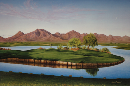 TPC at Scottsdale Arizona, the 12th Hole by artist Larry Dyke