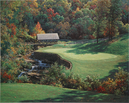 Thirteenth at the Atlanta Country Club by artist Larry Dyke