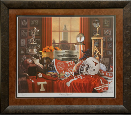 Longhorn Traditions by artist Greg Gamble