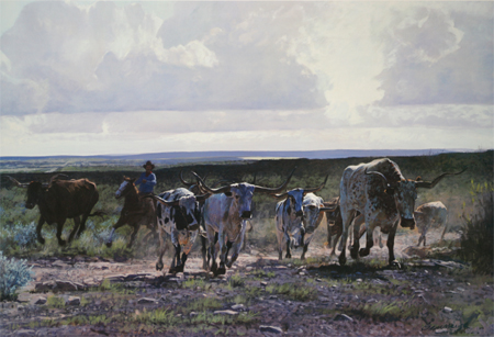 South Texas Stampede by artist Ragan Gennusa