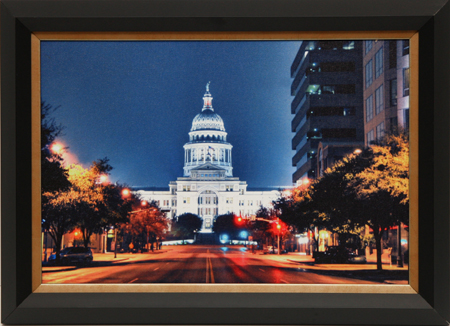Texas Capitol by artist David Reed Hall