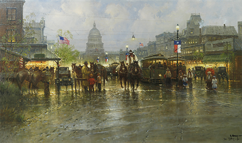 Cowhands and Trolleys by artist G Harvey