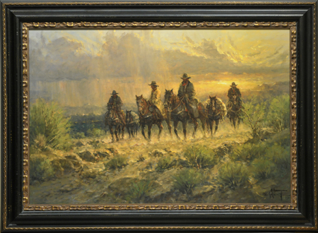 Cowhands of the West by artist G Harvey
