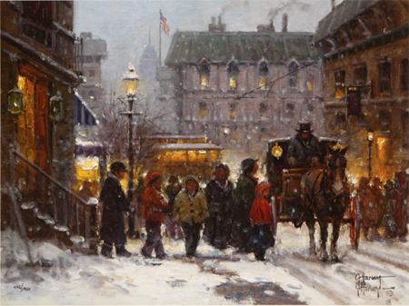 Fresh Snow in the City by artist G Harvey