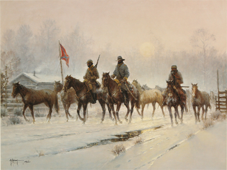 Horses for the Confederacy by artist G Harvey