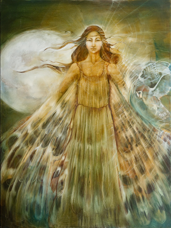 Owl Goddess by artist JudiBeth Hunter