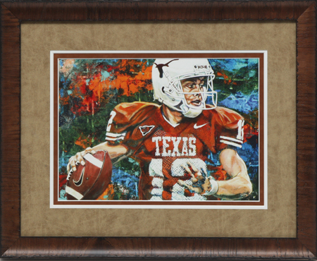 Colt McCoy by artist Robert Hurst
