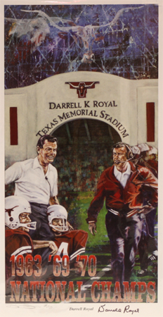 Darrell Royal by artist Robert Hurst