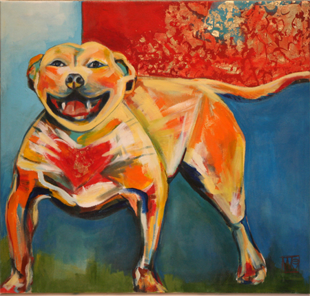 All Heart (Pitbull) by artist Melissa Wen Mitchell-Kotzev