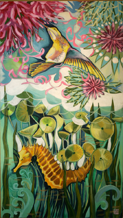 Birds, Bees, and the High Seas by artist Melissa Wen Mitchell-Kotzev
