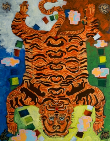 Eat, Pray, Tiger by artist Melissa Wen Mitchell-Kotzev