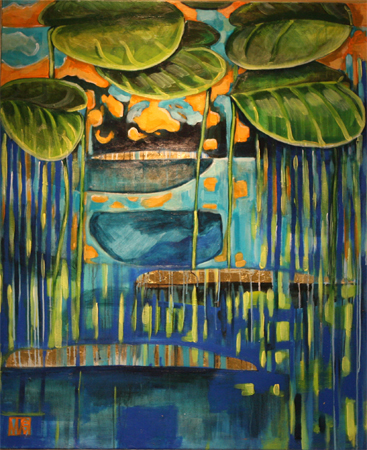 Hippo Lilly Pads by artist Melissa Wen Mitchell-Kotzev