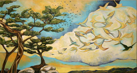 Steadfast, and Always Dreaming by artist Melissa Wen Mitchell-Kotzev