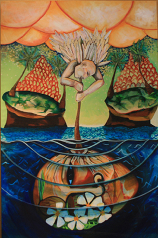 The Creation of an Island by artist Melissa Wen Mitchell-Kotzev