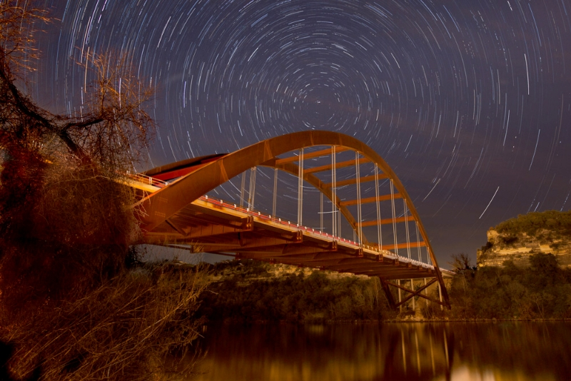360 Star Trails by artist Derris Lanier