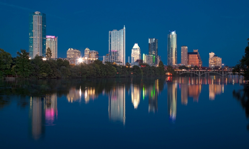 Austin Reflection by artist Derris Lanier