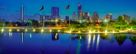 Austin at Sunrise by artist Derris Lanier