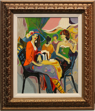 Afternoon Chat by artist Isaac Maimon