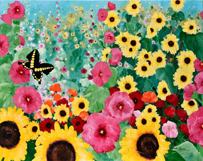 August Garden by artist Linda Rauch