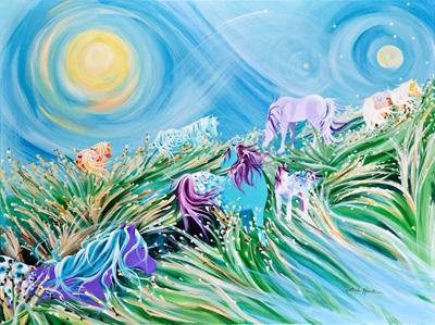 Dancing with the Wind by artist Linda Rauch