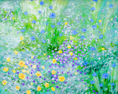 In the Meadow by artist Linda Rauch
