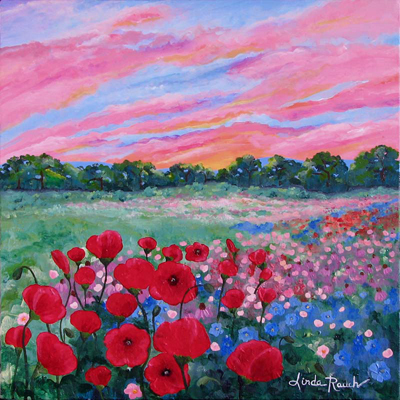 Jeweled Sunset by artist Linda Rauch