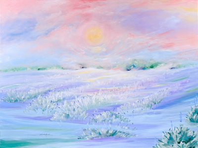 Lavender Fields by artist Linda Rauch