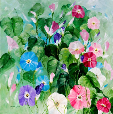 Morning Glory Bouquet by artist Linda Rauch