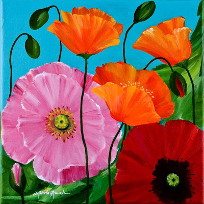 Poppy Parade by artist Linda Rauch