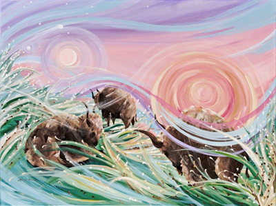 Sky Rainbows by artist Linda Rauch