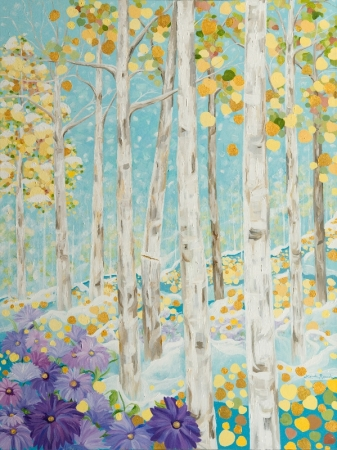 Sunlight and Snowflakes by artist Linda Rauch