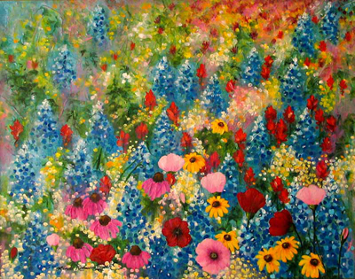 Wildflowers a la Monet by artist Linda Rauch