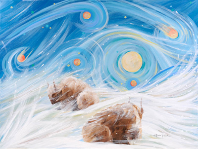 Winter Night by artist Linda Rauch
