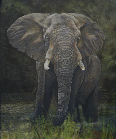 Elephant by artist Gaylon F. Stagner