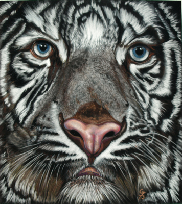 White Tiger by artist Gaylon F. Stagner