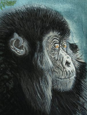 Young Chimp by artist Gaylon F. Stagner