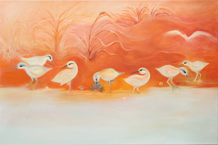 Sand Pipers by artist bj thornton