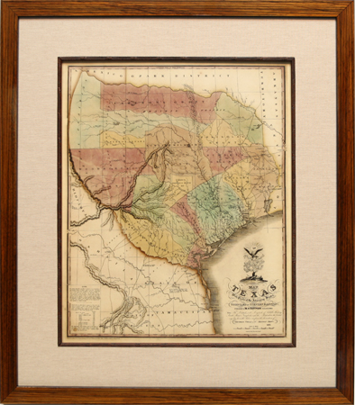 Texas Historic Map by artist Unknown Artist