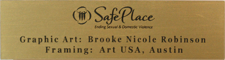 Engraved Plate with Logo