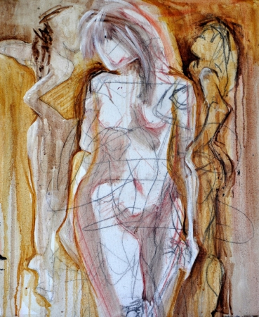 Sienna Figures by artist Beverly Deutsch