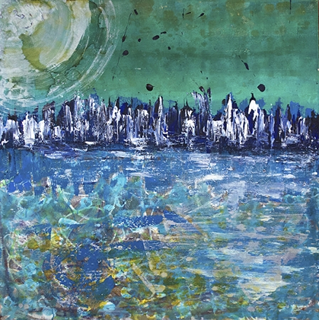 Melting Moon by artist Deborah Argyropoulos