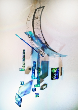 To the Moon and Back Mobile by artist Deborah Argyropoulos