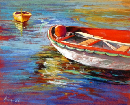 Portofino Drift by artist Rae Andrews