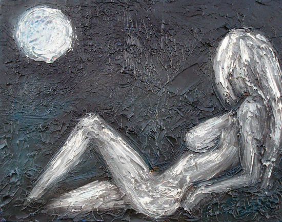 Full Moon Fantasy by artist Deborah Argyropoulos