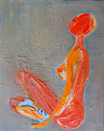 Orange Nude by artist Deborah Argyropoulos
